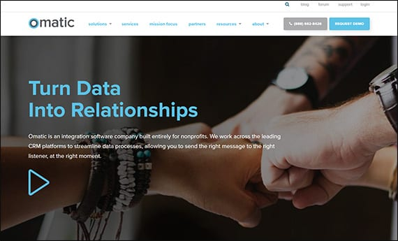 Check out Omatic Software's website to learn more about their Salesforce integration for nonprofits.